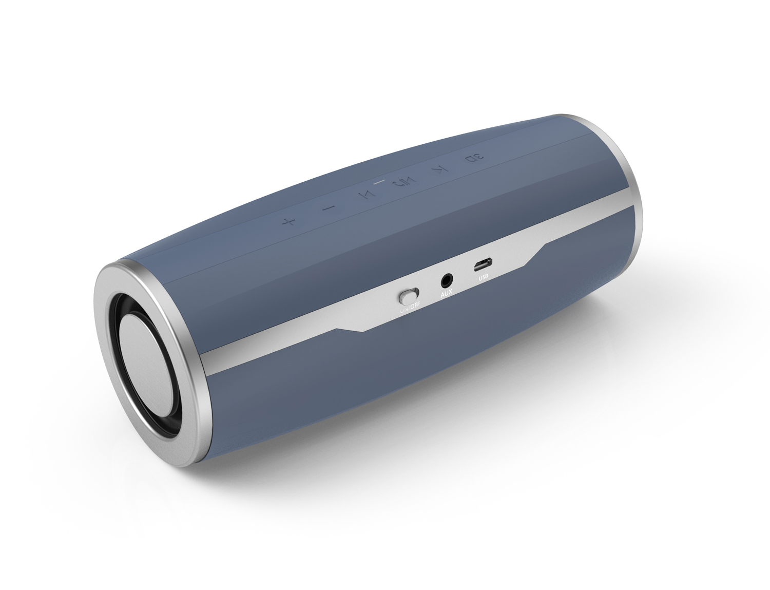Double 5Watts Drivers Portable Bluetooth Speaker Support NFC With Aux In Jack