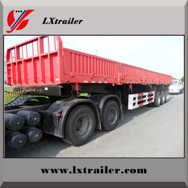 China factory selling 3 Axles 50Tons side wall cargo semi trailer for sale