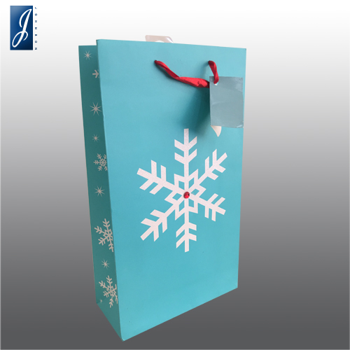 Customized wine paper bag for SNOW