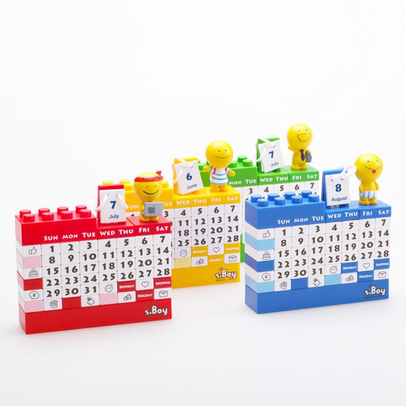 DIY Building block calendar,juggle perpetual calendar