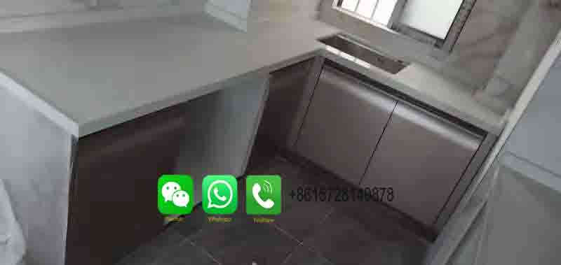 Foshan Weimeisi Polished Statuario Quartz Slab for Countertop for kitchen