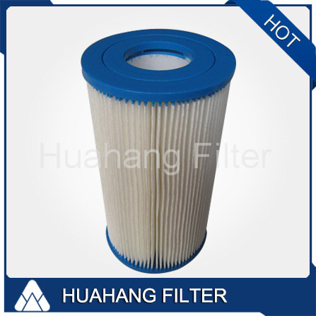 Pleated swimming pool water filter/water deionizer unit sand filter