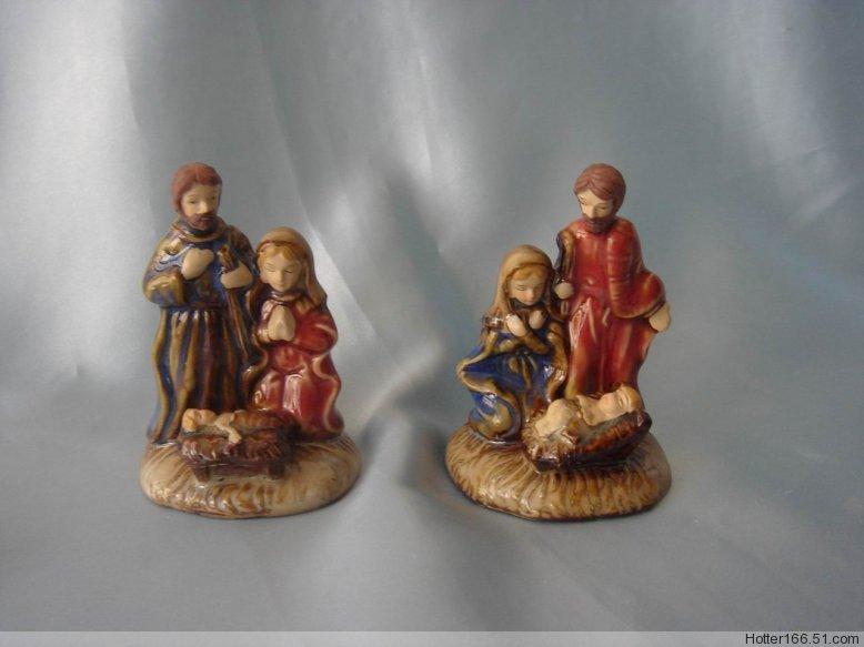 Ceramic Holy Family nativity sets,Christian Catholic crafts,Christmas giftwares crafts, religious cr