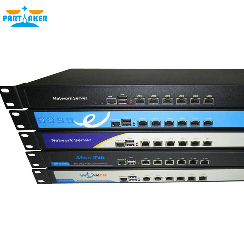 1U Network 6 82583v LAN Mikrotik Firewall with Intel D525 Processor Rack