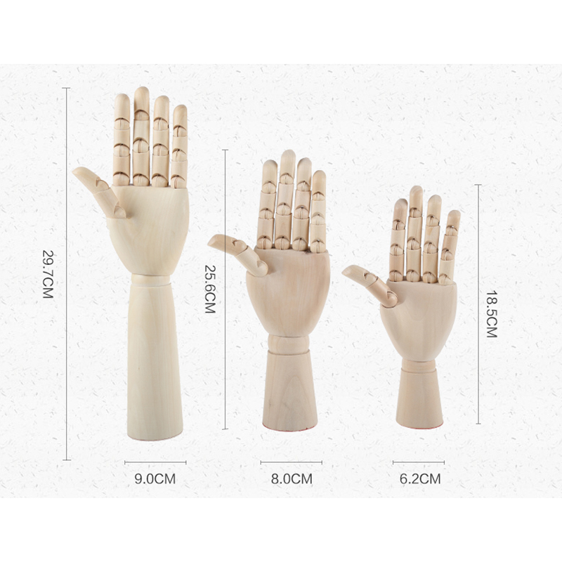 wholesale natural wood mannequin hand