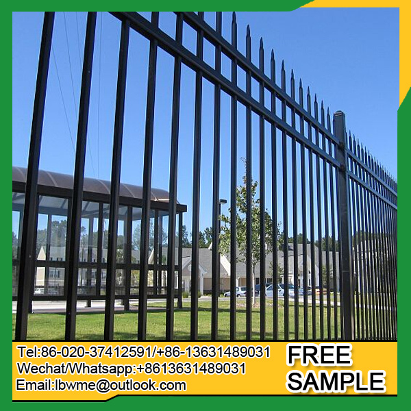 Steel fence Factory exporting tubular wrought iron fencing