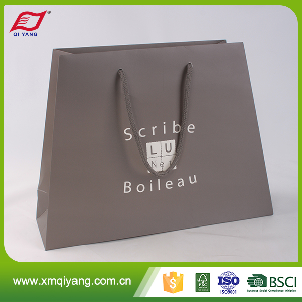 Custom design branded biodegradable paper bag for charcoal