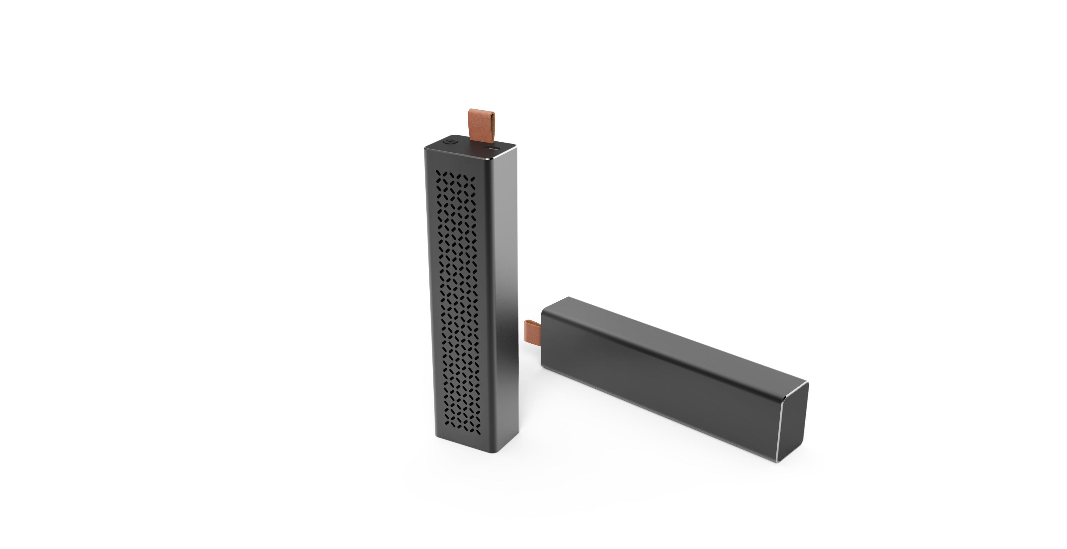 Sleek Metal Case Rectangular Pocket Bluetooth Speaker Bluit-in Macrophone 800mAh Battery