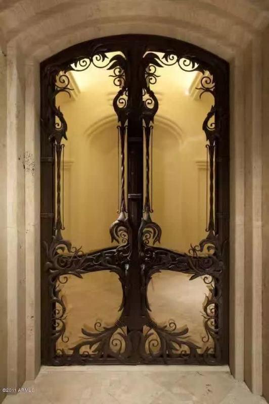 Xiamen Luxurious Round Top Iron Security Entry Door(JDL-1001)
