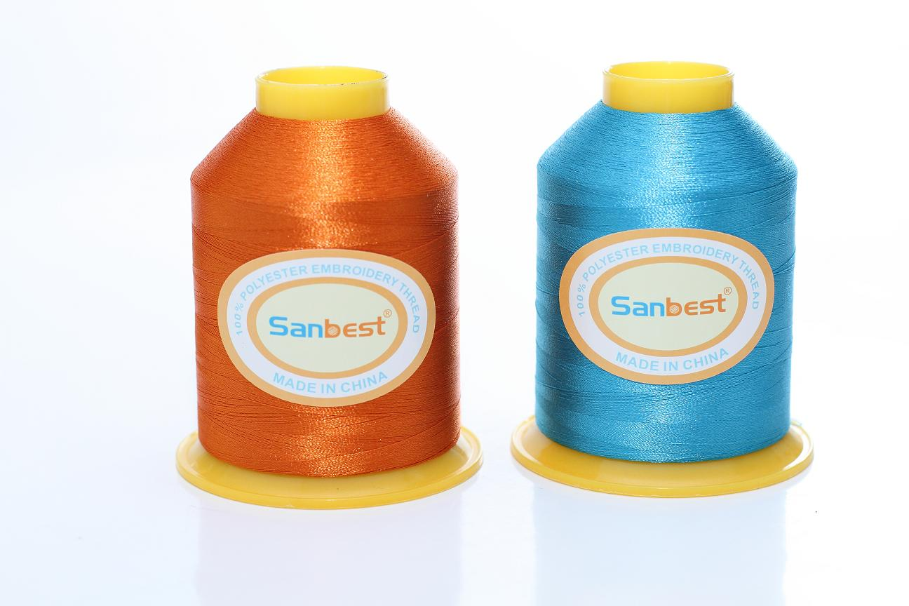 100% Trilobal Polyester Embroidery Thread