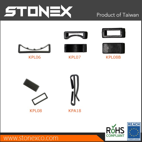 Stonex Plastic Keepers and belt loops for pet collars and bag strap