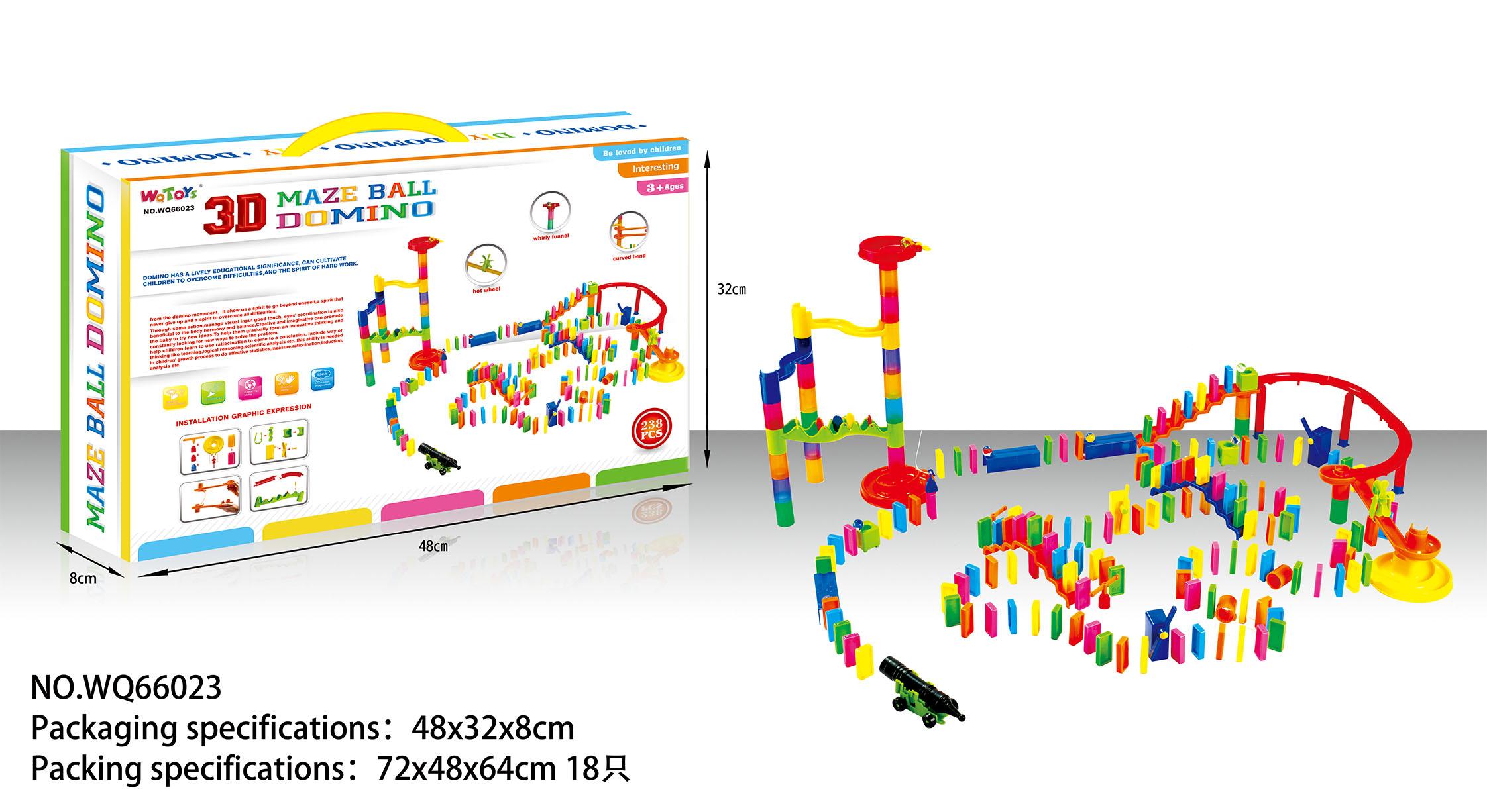 domino intelligence game 238pcs 3d maze ball plastict educational toys