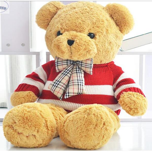 Wholesale soft stuffed teddy toy long pile plush teddy bear toy