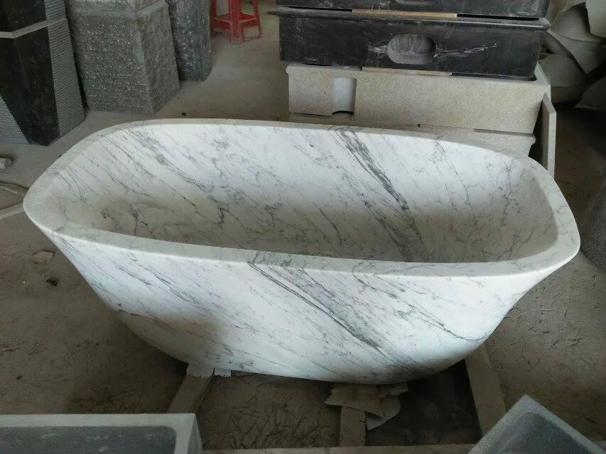 Carrara White Marble Bathroom Tub,White Marble Bathtub