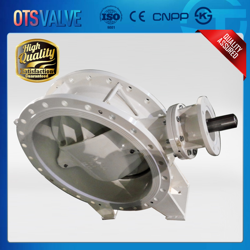 double offset soft seal flange type butterfly valve