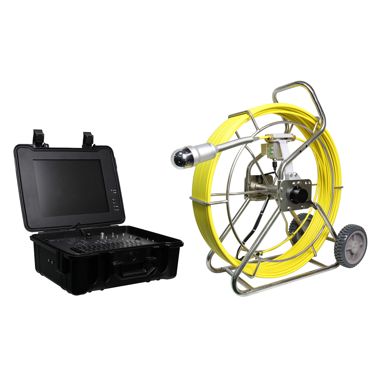 WOPSON 360 rotation pipe sewer inspection camera with wireless locator 512hz sonde