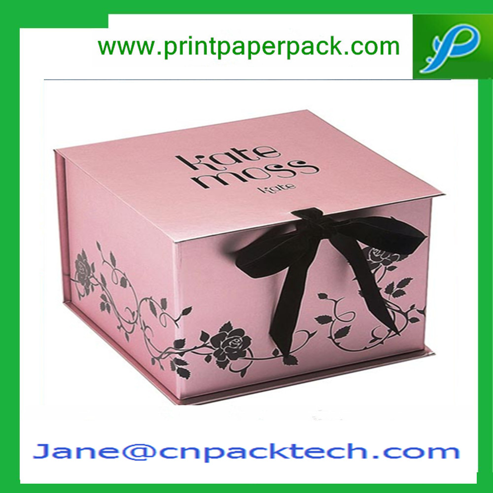 Customized Printing Rigid Set-Up Boxes Ribbon Packing Paper Cardboard Gift Boxes