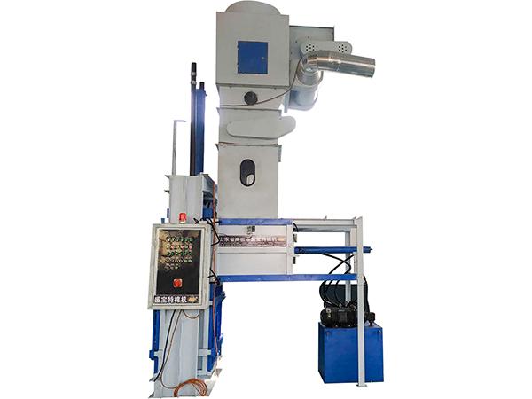Vertical and automatically hydraulic baling machine