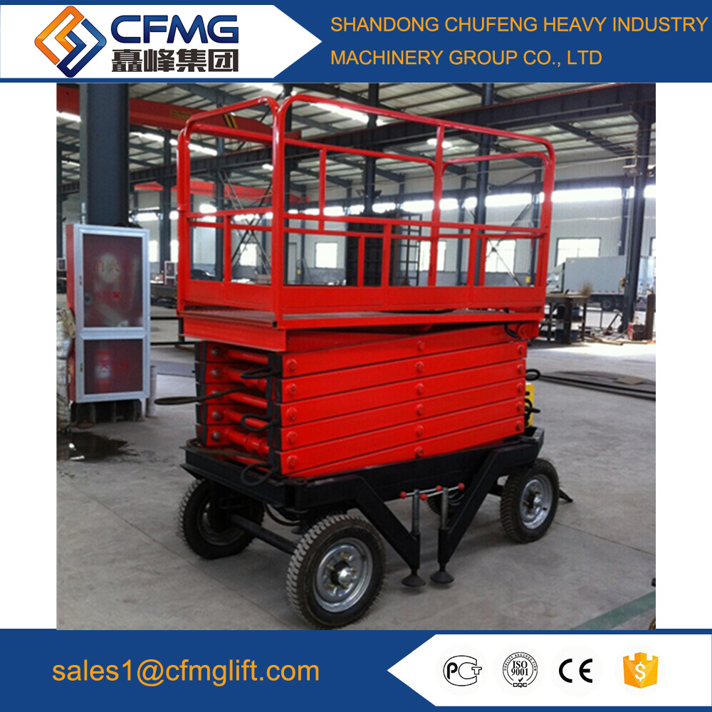 China electric hydraulic mobile scissor lift for street lamp maintenance
