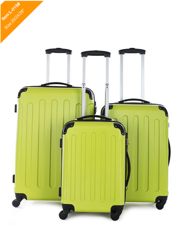 ABS luggage set with 4 rotatable wheels
