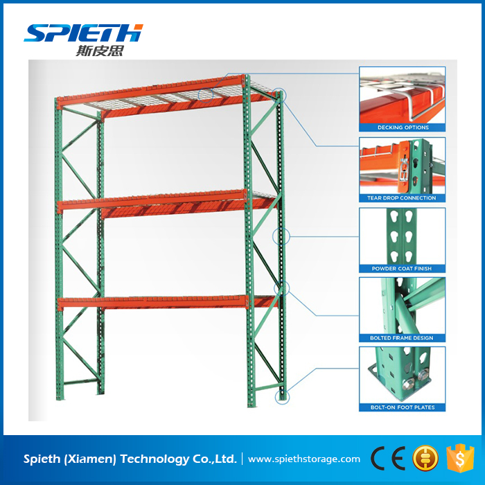 Warehouse heavy duty pallet rack teardrop American pallet racking