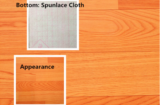 Sponge Vinyl Sheet Flooring Backing With Spunlace Cloth