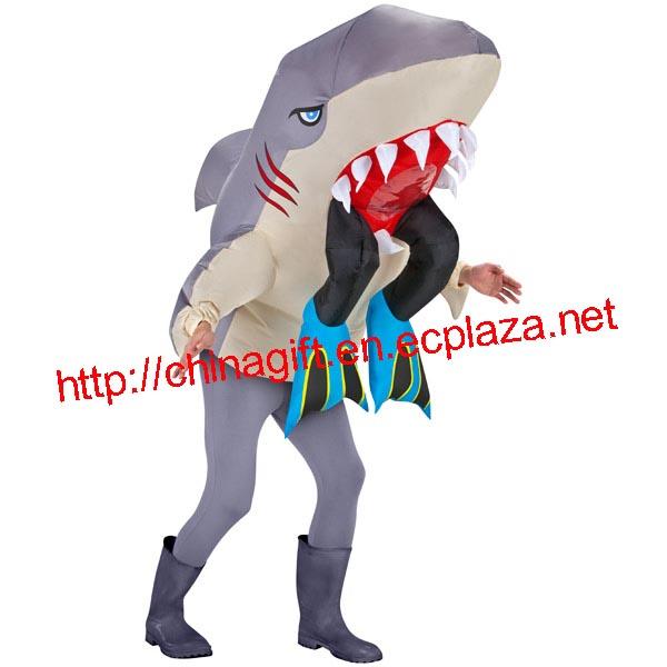 Inflatable Adult Costume - Shark Head