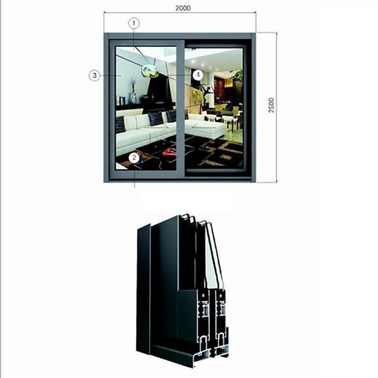 OEM Aluminum Profiles for Window | Thermal Break Insulation Aluminum Window |