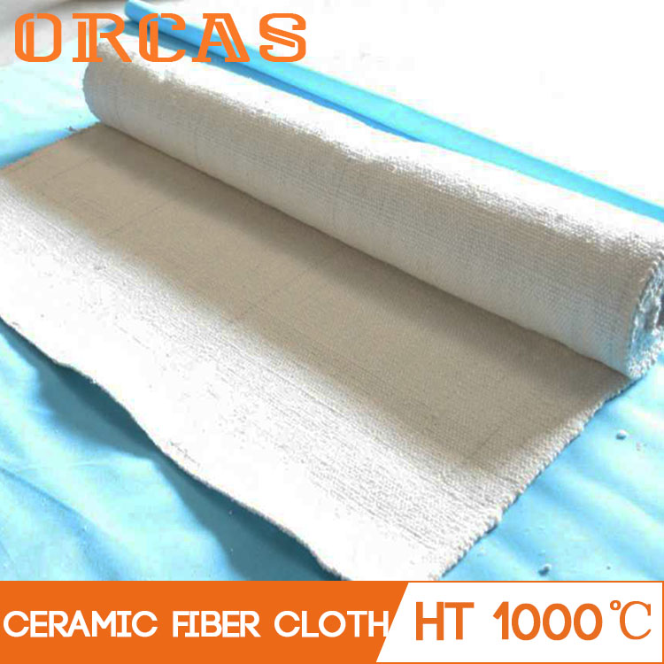 Fiberglass filament reinforced aluminium silicate ceramic fiber fabric