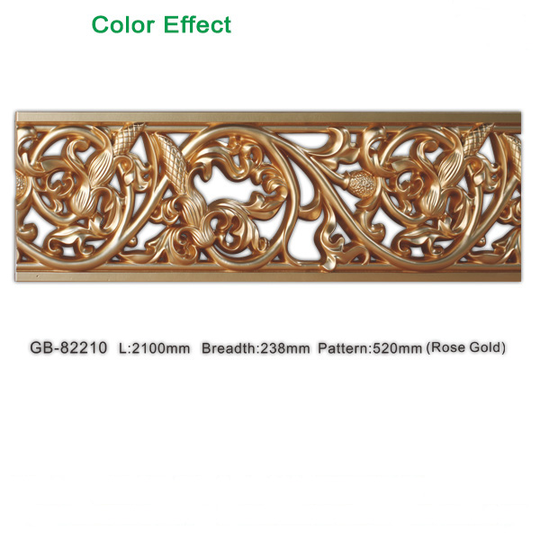 Decorative polyurethane partition wall board