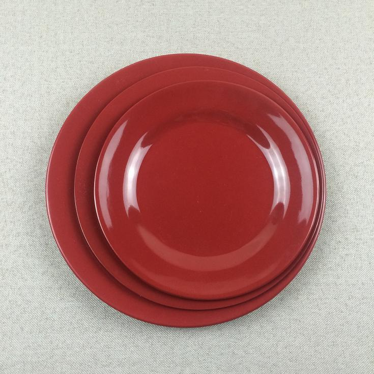 Various size mealmine plate dual color