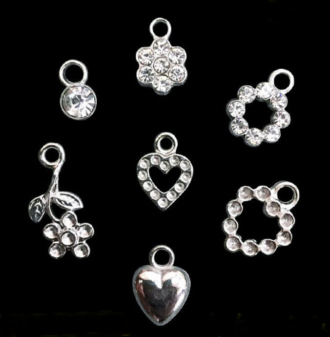 Small rhinestone ornament bikini charm pendants