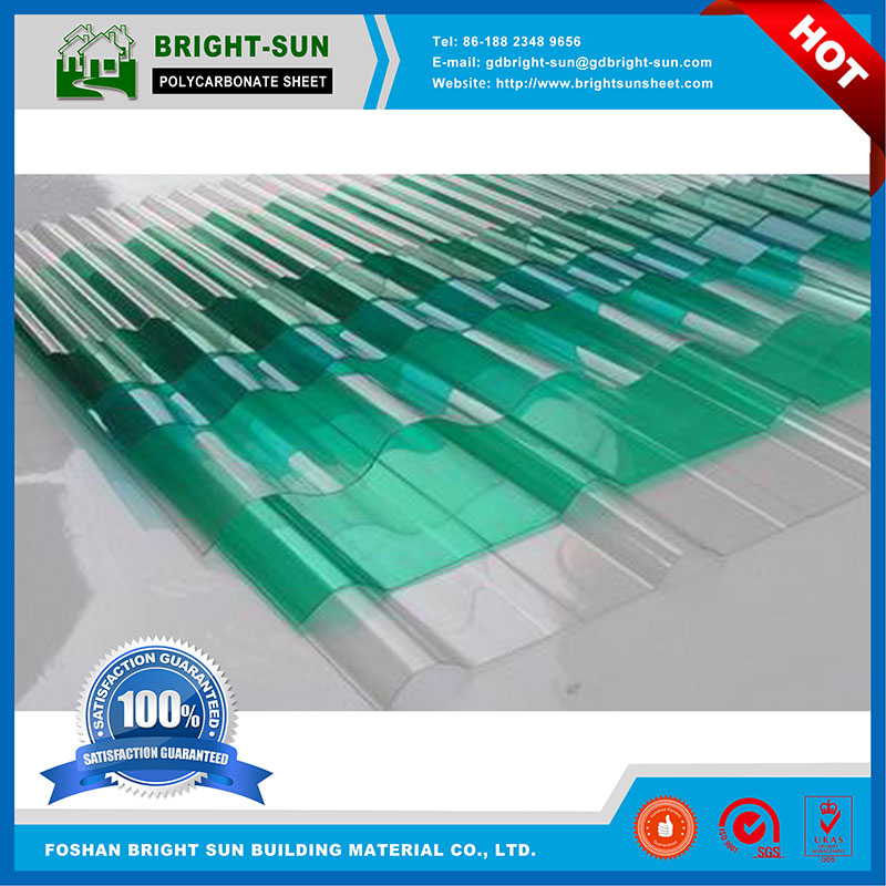 transparent customize corrugated polycarbonate sheet for greenhouse