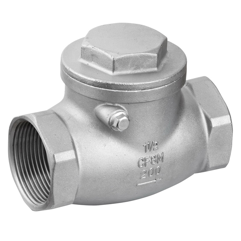 "2"" Swing Check Valve WOG 200PSI Stainless Steel SS316 CF8M"