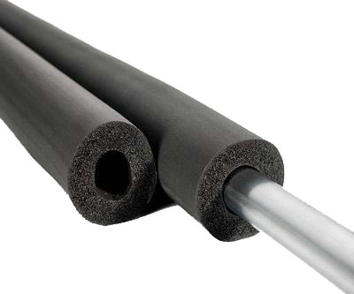 Heat insulation closed cell elastomeric rubber foam pipe