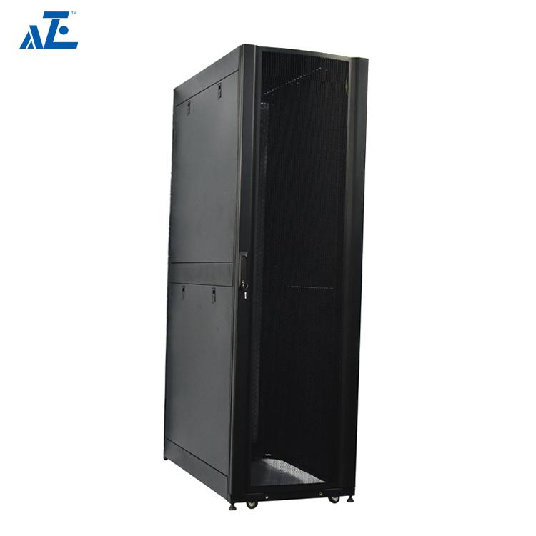 AZE 42U Server Rack Enclosure 600mm x 1070mm w/ Sides BLACK RAL9005