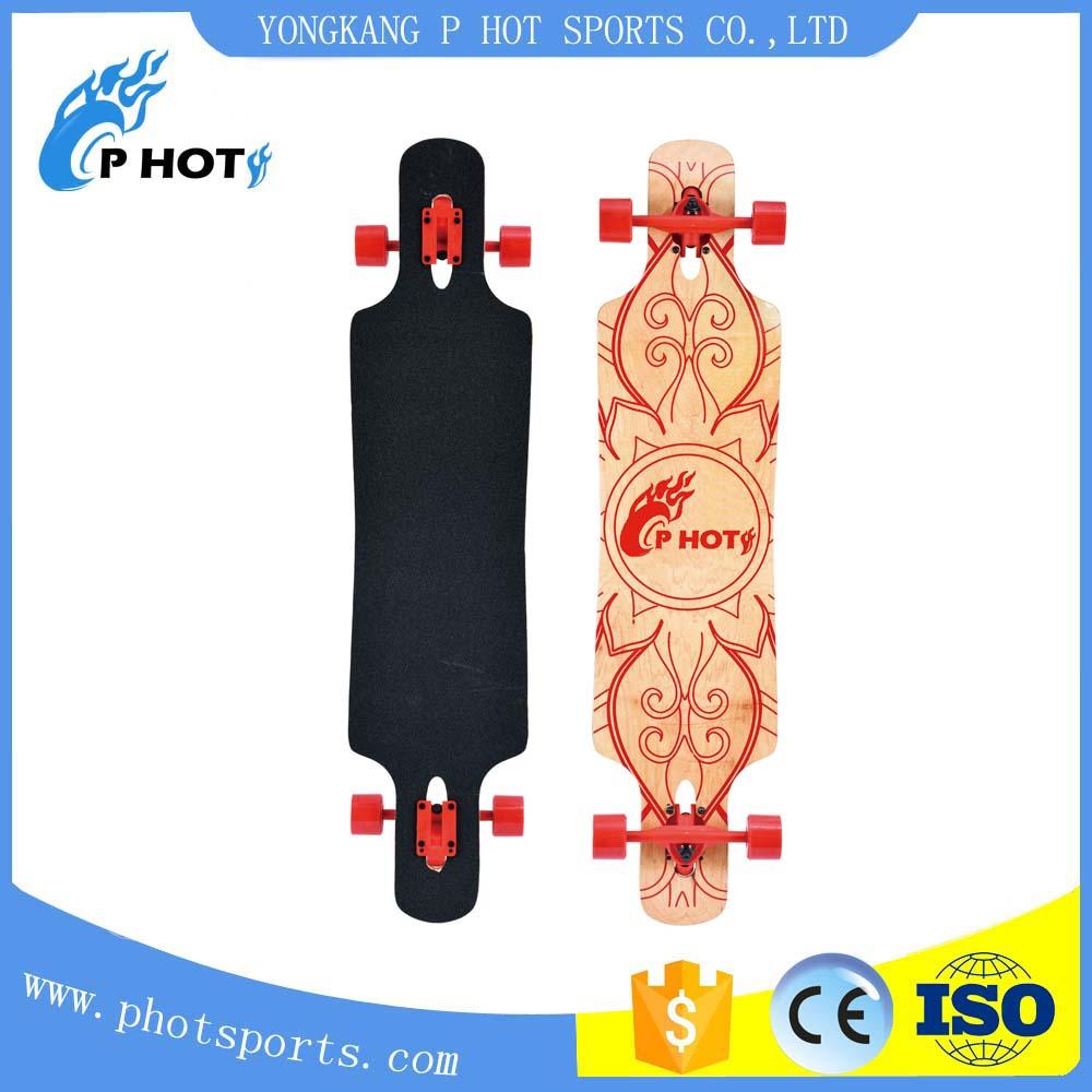 4 wheel skateboard 42.5 inch skate board 9 layer Chinese Maple long board deck skateboard
