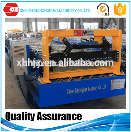 Double layers galvanized steel roof sheet roll forming machine with automatic working system