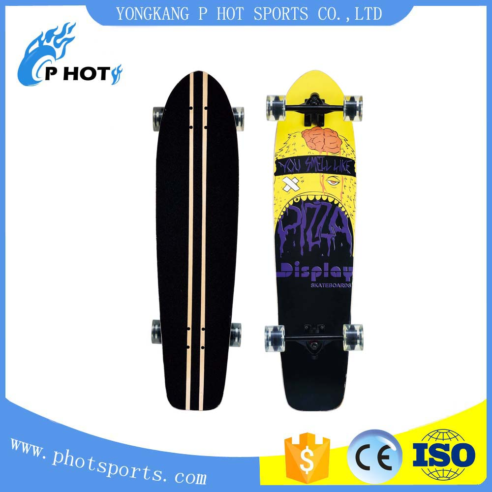 37 inch skateboard 7 layer Chinese Maple mini long board skate board wood skateboard deck