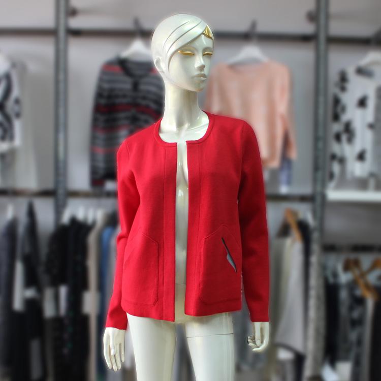 Womens Knitwear Coat Both Side Slant Pocket Two Color Design Thick Cardigan