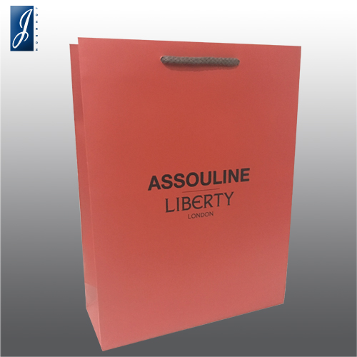 Customized promotional paper bag for ASSOULINE