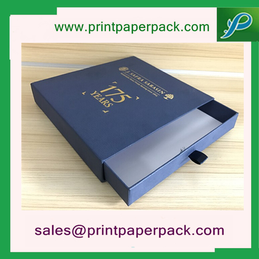 Custom Printed Luxury Cosmetic Paper Packaging Drawer Box