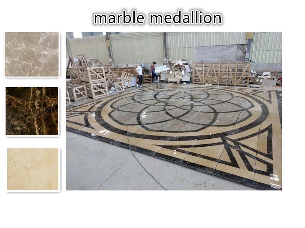 waterjet Hotel marble floor medallion pattern designs