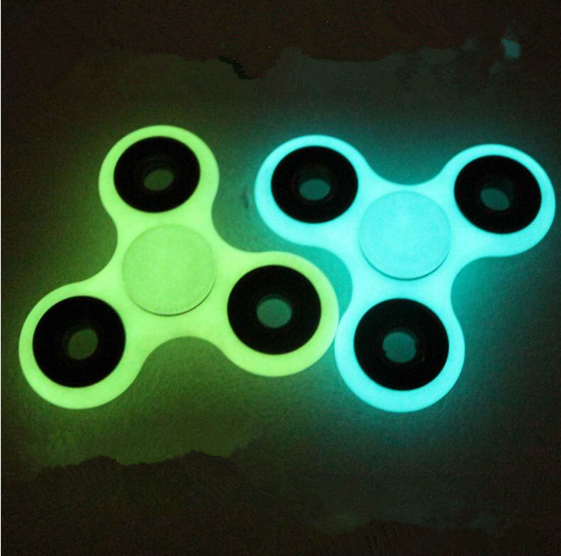 Glowing Finger gyro Fidget Spinner Rotating spiral high speed American adult Toy ABS Luminous Fidget