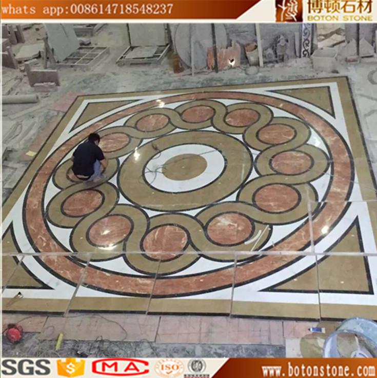 Waterjet medallion Villla marble floor design patterns