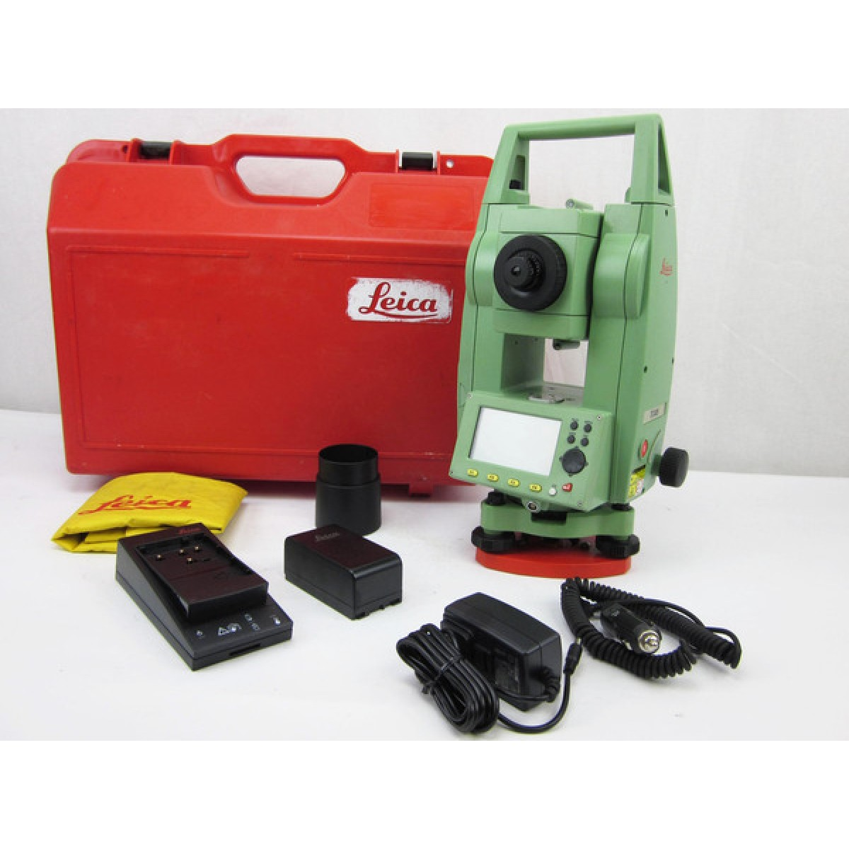 """LEICA TCP1201 1"""" COMPLETE ROBOTIC TOTAL STATION FOR SURVEYING"""