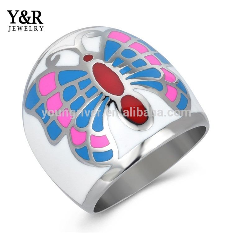 Stainless Steel Women Jewelry Mid Finger Ring