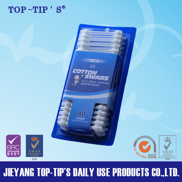 Baby cotton swabs with blister card