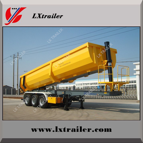 50 ton 3 axles end trailer dump / end tipping truck trailers