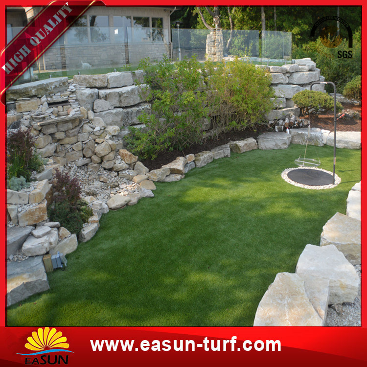 plastic fake Landscape Synthetic Turf Grass lawn Price-Donut